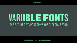 Variable Fonts: the future of typography has already begun
